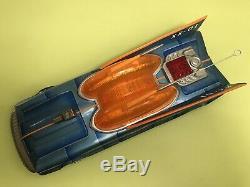 Vintage Aoshin Asc Japan Battery Tin Toy Space Patrol Xx-01 Batmobile Car Rare
