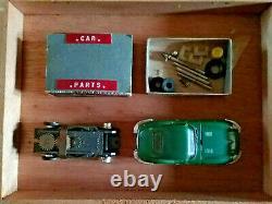Vintage Aurora Green Jaguar HO Scale Slot Car & Parts Box From My Childhood Toys