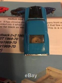 Vintage Aurora Thunderjet 1969 Ford Mustang Mach 1 Blue HO Slot Car MINT Rare