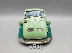Vintage Bandai BMW Isetta 300 B-588 Tin Car Friction Toy in Green Japan