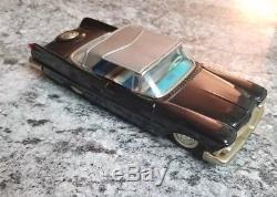 Vintage Bandai Chrysler Imperial Tin Friction Car 1958 59 Japan Rare Black Coupe