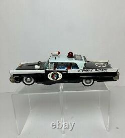 Vintage Bandai Japan Tin Lincoln Continental Highway Patrol POLICE Batt Toy Car