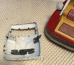 Vintage Bandai Japanese Tin-Type Friction BMW Isetta Toy Car-Vintage, Red&White
