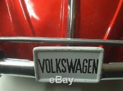 Vintage Bandai Volkswagen Bug B Sign of Quality Made in Japan Tin Toy Car