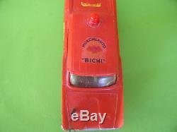 Vintage Batman Batmobile Rare Friction Red Car Toy Bakelite