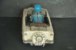 Vintage Battery Police No. 3 Litho Jeep/Car Tin Toy, Japan