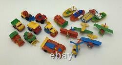 Vintage Bruder Hard Plastic Penny Mini Toys Snap Together Boats Construction Car