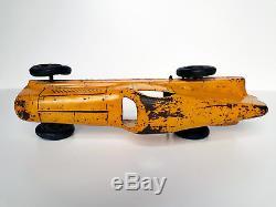 Vintage CIJ Renault Nervasport France Tinplate tin toy record car 1930s