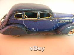 Vintage Car Tin Japan Kuramochi Nomura Toys 1936 Packard Pre Wear