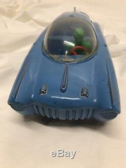Vintage Concept Futuristic Streamline Marx Plastic Friction Space Car