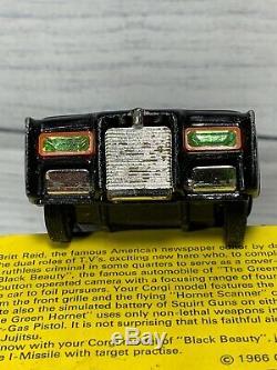 Vintage Corgi Toys #268 Black Beauty The Green Hornet Car Box & Papers