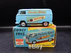Vintage Corgi Toys 441 VOLKSWAGEN Bus TOBLERONE car VW van toy with original box
