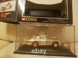 Vintage Corgi Toys James Bond Gold Aston Martin DB5 143 scale Box Worn