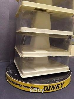 Vintage DINKY TOYS Store Counter Display 1960's Old Car Toy RARE Diecast England