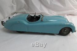 Vintage DOEPKE Model Toys XK-120 Jaguar Convertible 17.5 Metal Car c. 1950s