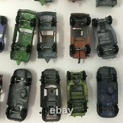 Vintage Diecast Cars Tootsie Toys Lot 24 Model A Hot Rod VW Bug Fiat