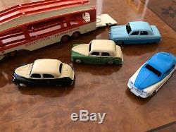 Vintage Dinky Supertoys GIFT SET Pullmore Car Transporter + 4 Cars 990 M