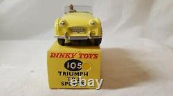 Vintage Dinky Toys 105 Triumph TR2 With Box Excellent Condition Nice