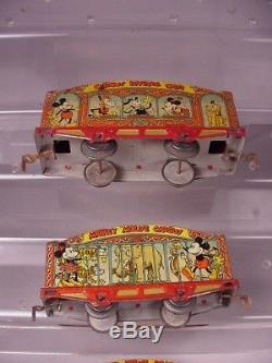 Vintage Disney Lionel trains tin litho cars toys, 3 pre war toys 1930's-1940's