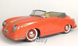 Vintage Distler Electromatic Porsche 356 Toy Car With Original Box And Key 7500