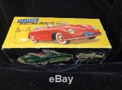Vintage Distler Porsche 356 Toy Car With Original Box And Key GREAT COLLECTIBLE