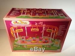 Vintage Famosa Pin y Pon Pinypon Doll Figure Playset Circus Bumper Cars Carousel