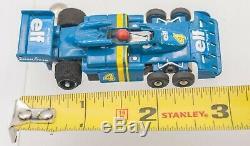 Vintage HO Scale Aurora AFX Formula ELF Tyrell F1 Six-Wheel #4 Race Slot Car