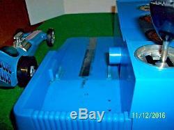 Vintage Hasbro Blue Slick Stick Sifter Battery Operated Race Car System