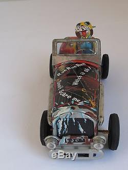 Vintage Hot Dog Rod Friction Tin Litho Toy Race Car Ms Masuya Japan Works