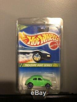 Vintage Hot Wheels 1995 Treasure Hunt series 5 of 12 cars VW Bug