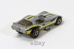 Vintage Hot Wheels VETTY FUNNY car (a2), rare White Stripe Tampo, corvette vette