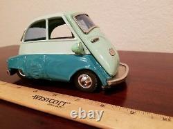 Vintage Isetta 300 Bandai 1960s Tin Toy BMW car Made In Japan Tin Toy Lot