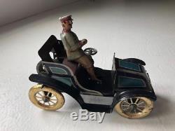 Vintage Issmayer Open Tourer Tin Car Germany