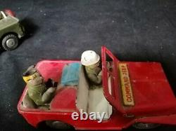 Vintage JEEP Cars Iron Rare collectible toys COMMAND JEEP Japanese soldier 2 pie