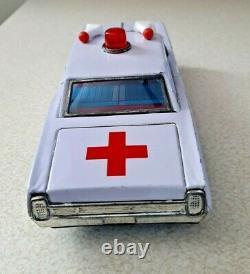 Vintage Japan Bandai Ford Tin Friction Ambulance Car 8 K303 With Box