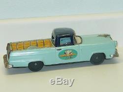 Vintage Japan Tin Bandai Ford Ranchero, Toy Car, Truck, Ford Lasts Longer