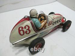 Vintage Japan Tin Yonezawa Champion Special Toy Midget Race Car Friction