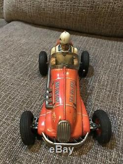 Vintage Japan Tin Yonezawa Electro Special Toy Race Car B/O