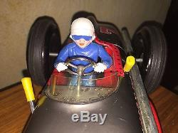Vintage Jetspeed tin racing car Litho Japan Marx Extra Clean Toy