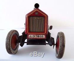 Vintage Johann Distler Nuremberg Pre-war 1930 clockwork wind-up Race Car JD1632