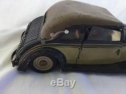 Vintage Karl Bub Horch Tin Plate Coupe Wind Up Toy Car Must See No Reserve