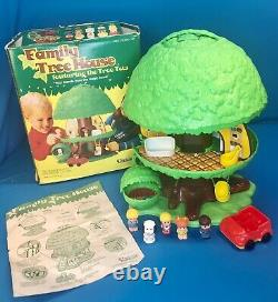 Vintage Kenner Tree Tots Family Tree House Dog Kennel Swing Car Figures COMPLETE