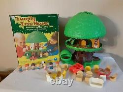 Vintage Kenner Tree Tots Family Tree House Dog Kennel Swing Car HTF COMPLETE