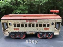 Vintage Keystone 6800 Ride On Pullman Railroad Car Original Pressed Steel