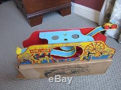 Vintage LOOP A LOOP toy TIN wind-up CAR amusement park ride WOLVERINE the BOX us