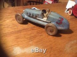 Vintage Large Tin Race Car