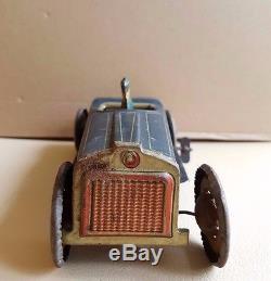 Vintage Levy George Gely tin clockwork oldtimer open tourer sedan car toy-RARE