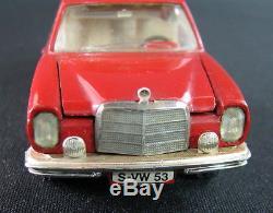 Vintage Lot 2 German Cars Toys Mercedes 220s 250 Marklin Racer Schuco Germany