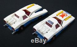 Vintage Lot Of 2 Interesting Space Plane Cars Battery Operated Plastic Toys