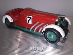 Vintage Marklin Tin / Mercedes SSK Race Car No. 7 / Powerful Wind Up Motor